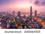 aerial view of bitexco... | Shutterstock . vector #600064505
