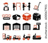 pack  package  packaging icon... | Shutterstock .eps vector #600067901