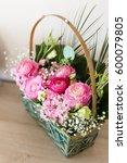 Flower Arrangement In Basket...