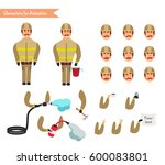 set for animation of... | Shutterstock .eps vector #600083801