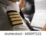 Captain In The Aircraft Cockpi...