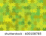 150 green puzzles pieces... | Shutterstock .eps vector #600108785