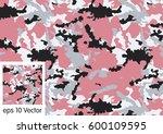camouflage pattern vector   Shutterstock .eps vector #600109595