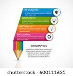 infographics template. pencil... | Shutterstock .eps vector #600111635