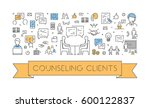 line web banner for counseling... | Shutterstock .eps vector #600122837