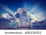 doors to paradise. the concept... | Shutterstock . vector #600126551