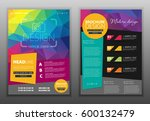 modern vector abstract brochure ... | Shutterstock .eps vector #600132479