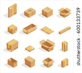 boxes of various shapes vector... | Shutterstock .eps vector #600133739