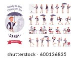 ready to use character set.... | Shutterstock .eps vector #600136835