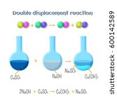 double displacement reaction  ... | Shutterstock .eps vector #600142589