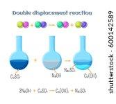 double displacement reaction  ... | Shutterstock .eps vector #600142589