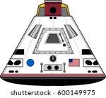 cartoon space capsule | Shutterstock .eps vector #600149975
