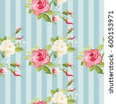 seamless floral pattern with... | Shutterstock .eps vector #600153971
