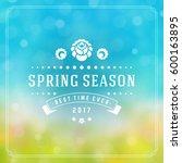spring badge vector typographic ... | Shutterstock .eps vector #600163895