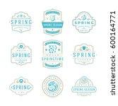 spring typographic badges... | Shutterstock .eps vector #600164771