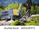 drilling mmachinery for rock... | Shutterstock . vector #600169571