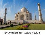 taj mahal historical monument... | Shutterstock . vector #600171275