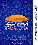 umbrella protection from rain.... | Shutterstock .eps vector #600176204