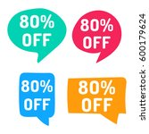 80  off. hand drawn speech... | Shutterstock .eps vector #600179624