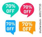 70  off. hand drawn speech... | Shutterstock .eps vector #600179735