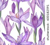 seamless pattern with cute... | Shutterstock .eps vector #600182591