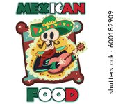 mexican food logo with a... | Shutterstock .eps vector #600182909