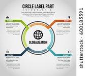 vector illustration of circle... | Shutterstock .eps vector #600185591