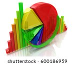 business colorful charts in the ... | Shutterstock . vector #600186959