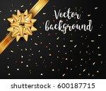 vector greetings black greeting ... | Shutterstock .eps vector #600187715