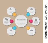 vector infographic template  6... | Shutterstock .eps vector #600191804
