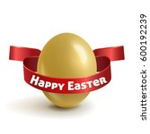 realistic  gold easter egg with ...   Shutterstock .eps vector #600192239