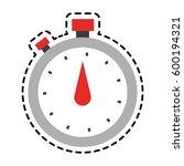 analog chronometer icon image  | Shutterstock .eps vector #600194321