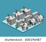flat 3d isometric abstract... | Shutterstock . vector #600196487
