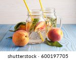 homemade lemonade of ripe... | Shutterstock . vector #600197705