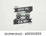 logo music store  hipster style.... | Shutterstock .eps vector #600202859