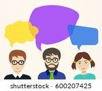 vector illustration.  people... | Shutterstock .eps vector #600207425