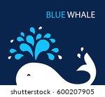 vector illustration whale on... | Shutterstock .eps vector #600207905
