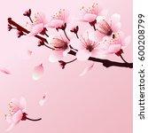 cherry blossom  sakura branch...   Shutterstock .eps vector #600208799