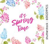 spring time concept of card... | Shutterstock . vector #600209921