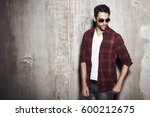 serious shades and checked... | Shutterstock . vector #600212675