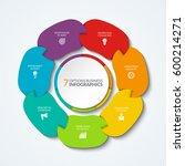 infographic pie chart. vector... | Shutterstock .eps vector #600214271