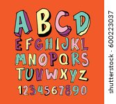 graphic font for your design.... | Shutterstock .eps vector #600223037