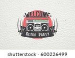 color sticker retro party.... | Shutterstock . vector #600226499