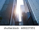low angle view of modern... | Shutterstock . vector #600227351
