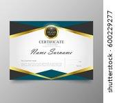certificate premium template...   Shutterstock .eps vector #600229277