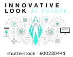 trendy innovation systems... | Shutterstock .eps vector #600230441