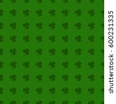 clover leaves background. st.... | Shutterstock . vector #600231335