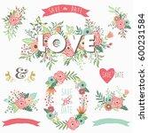 flower love wreath collections | Shutterstock .eps vector #600231584