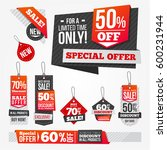 sales bags and banners with... | Shutterstock .eps vector #600231944