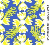 floral seamless pattern with... | Shutterstock .eps vector #600231965